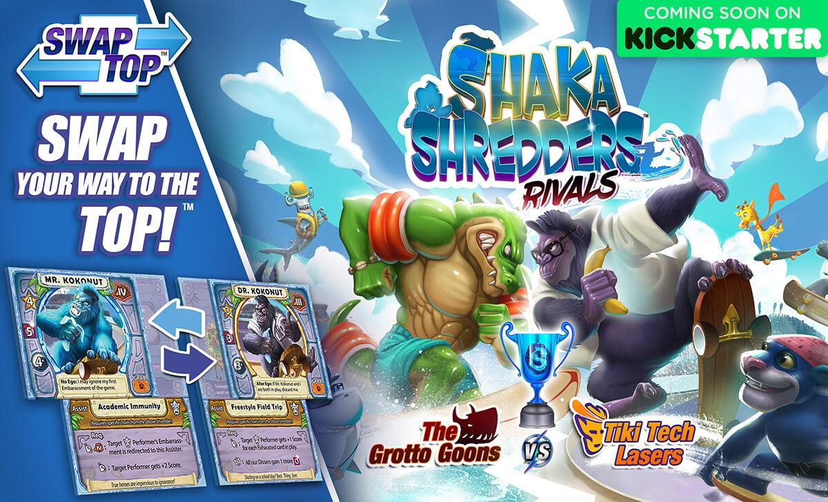 Shaka Shredders: Rivals - The Grotto Goons vs. Tiki Tech Lasers Coming Soon to Kickstarter