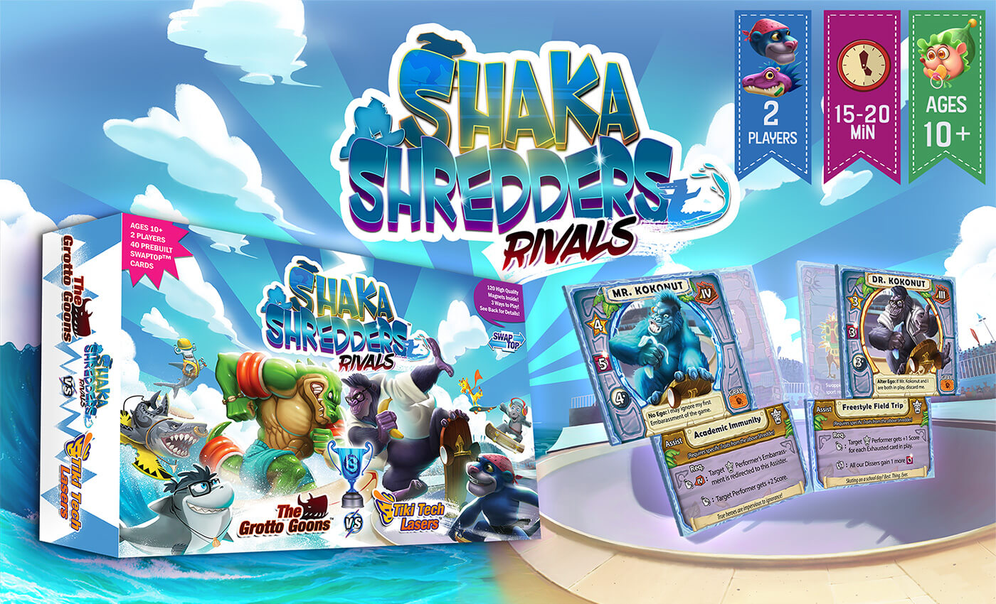 Shaka Shredders Rivals - The Grotto Goons vs. Tiki Tech Lasers
