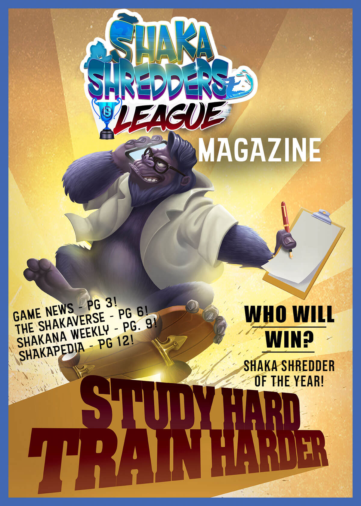 Shaka Shredders League Magazine - Dr. Kokonut Cover