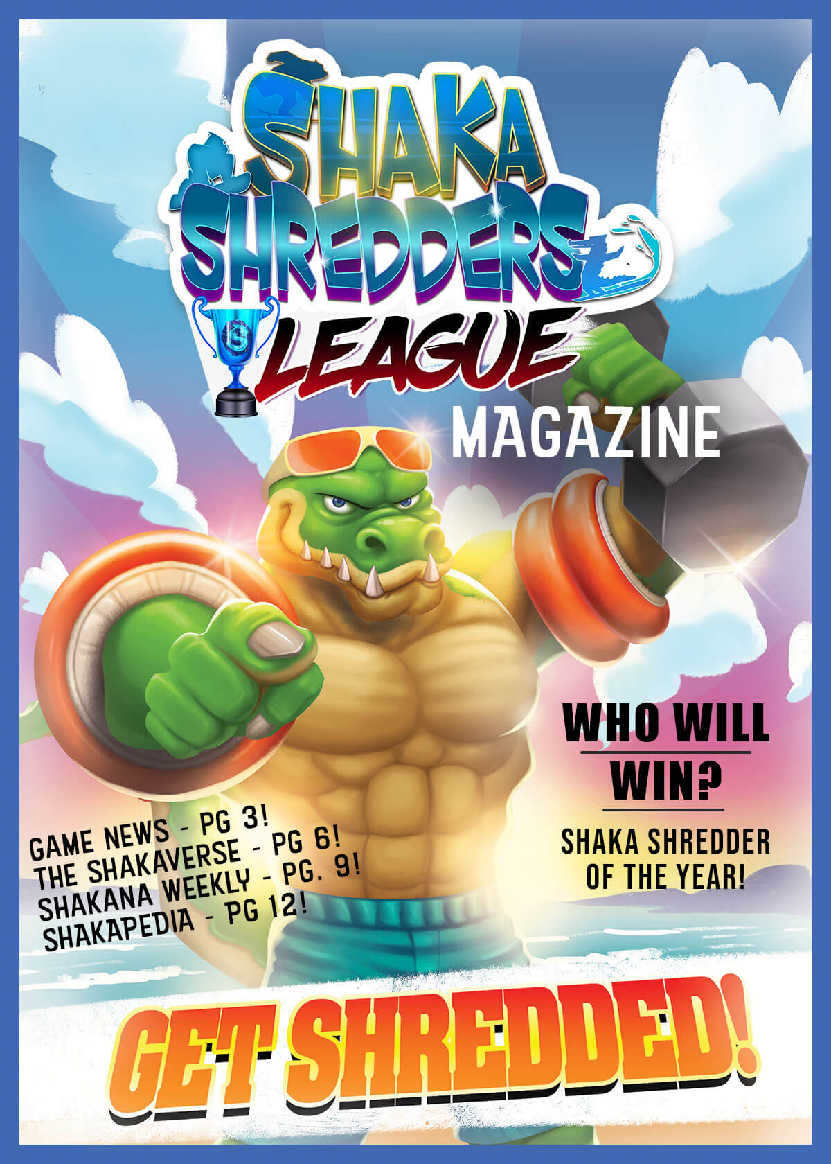 Shaka Shredders League Magazine - Shredzilla Cover