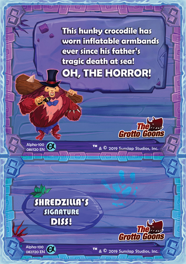 Shaka Shredders Swaptop (Back) - Shredzilla