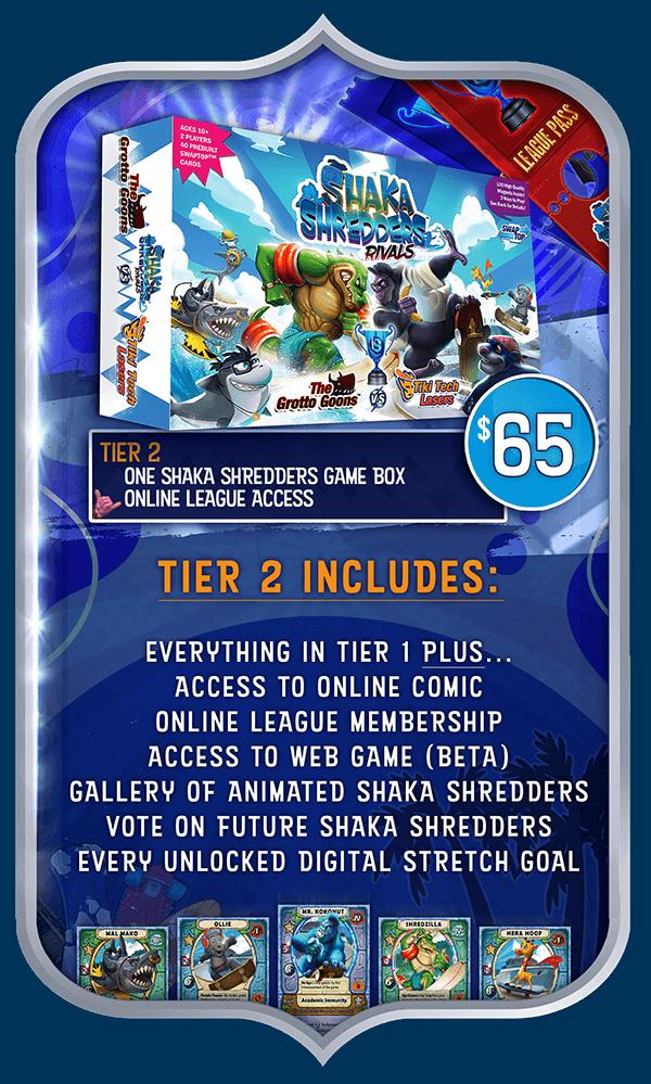 Shaka Shredders: Rivals - Kickstarter Pledge Level 2